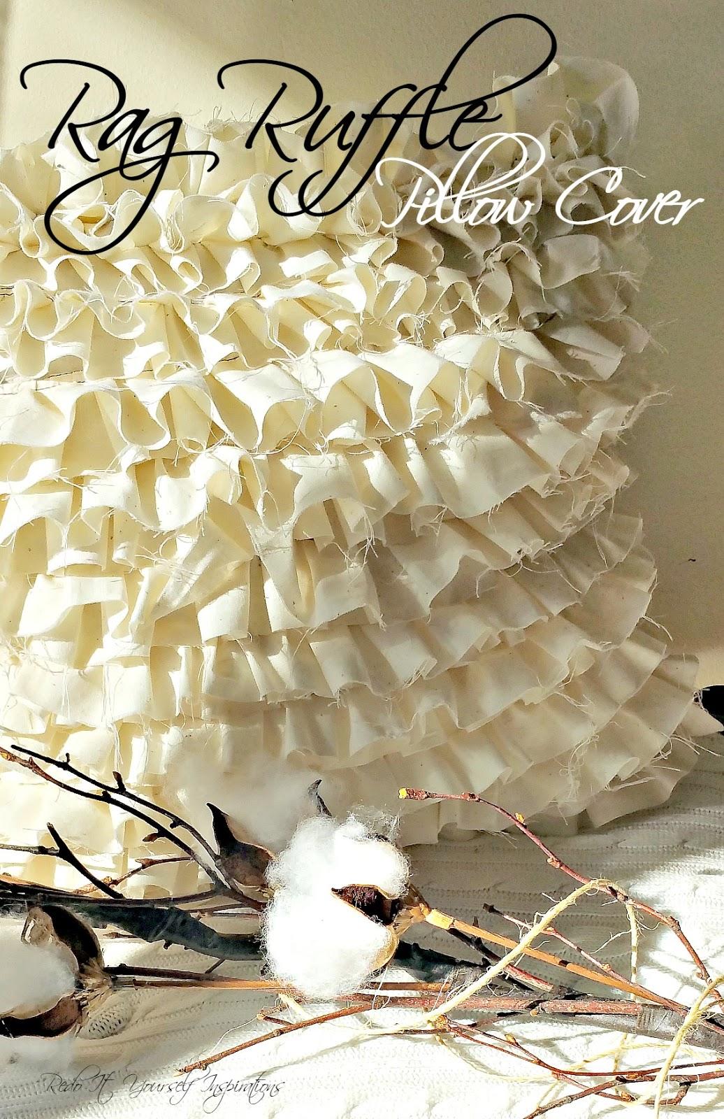 Making a Rag Ruffle Pillow Cover | Redo It Yourself ...