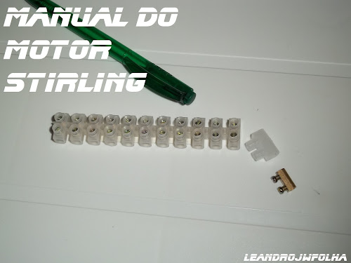 Manual do motor Stirling, barra de conector de fio de luz