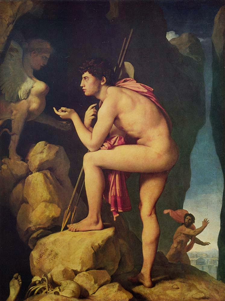 Édipo e a Esfinge - Ingres e suas principas pinturas ~ Neoclassicismo