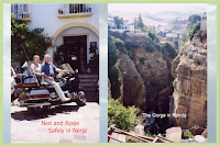 Ned and Rosie in Andalucia. Nerja and Ronda.