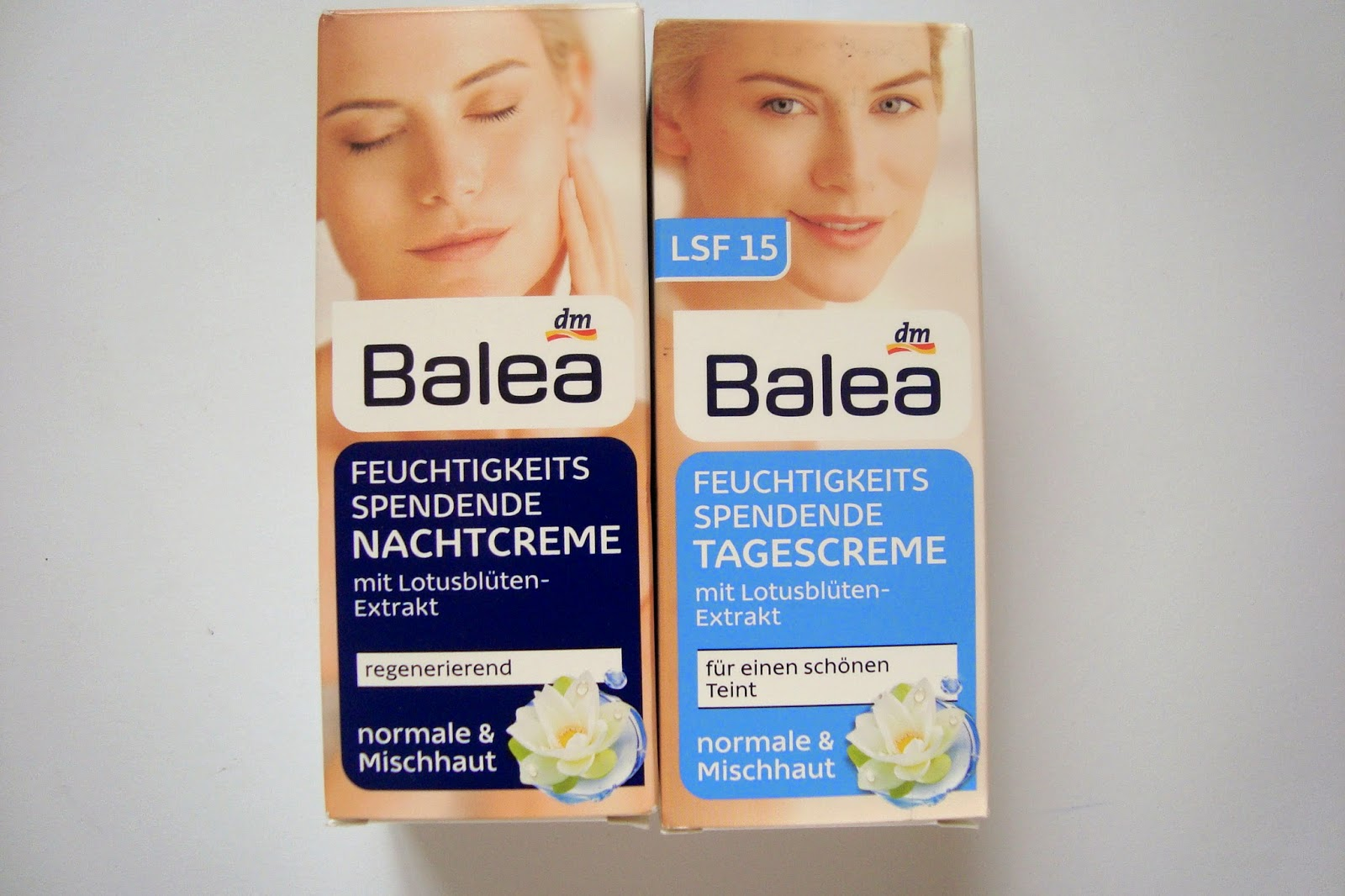 Balea creams with lotus