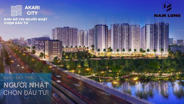 Phối cảnh căn hộ dự án Akari City đường Võ Văn Kiệt