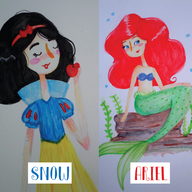 branca de neve, snow white, ariel, the little mermaid