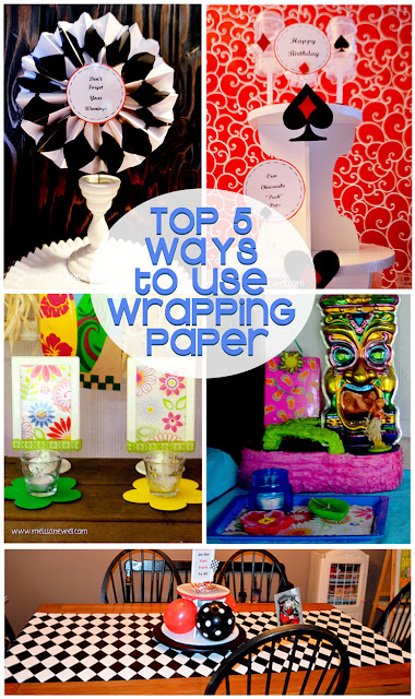 uses for wrapping paper, birthday wrapping paper, top 5 uses for gift wrap