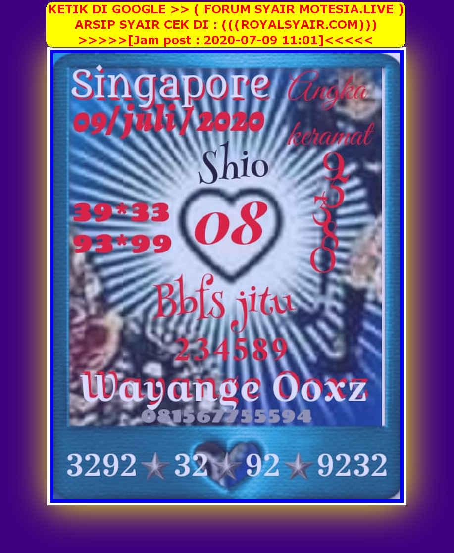 Kode syair Singapore Kamis 9 Juli 2020 48