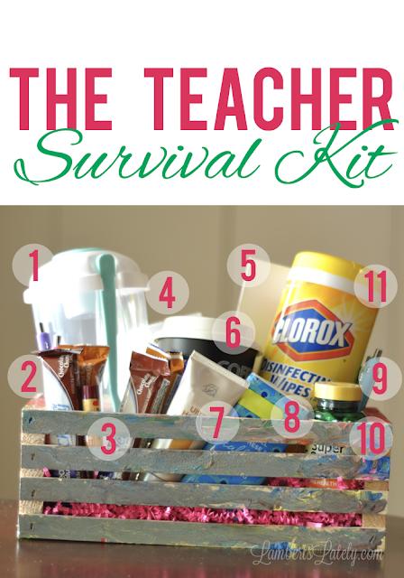 Teacher Survival Kit - Great idea for a beginning of the year teacher gift!