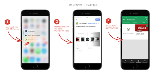 Google+ for iOS v5.3.0 Brings 3D Touch Support