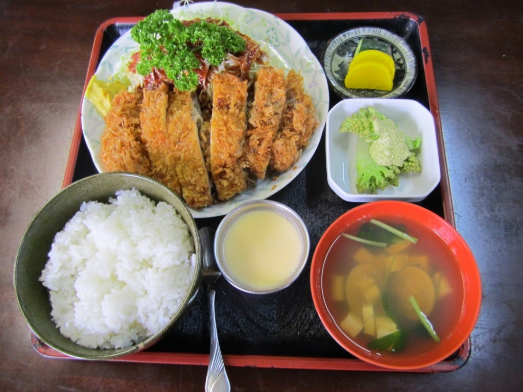 Natto in Pork Cutlet Set Miki Kakehashi Teishoku  かけ橋定食  食事処味喜