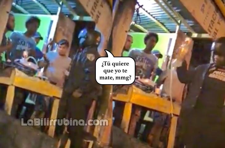 Video: Policía rompe hookah y amenaza de muerte a joven en Herrera