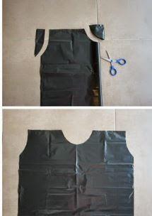 como cortar una bolsa para disfraz