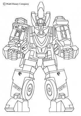 Robots Coloring Pages