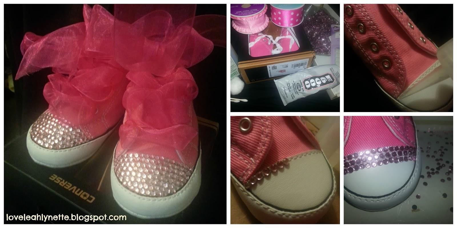 7bbbc3b65d34 LoveLeahLynette  DIY  Sparkly Baby Rhinestone Converse