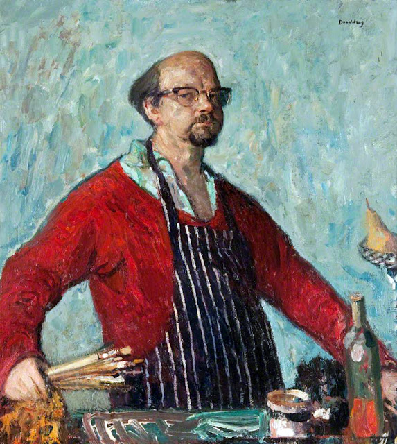 David Abercrombie Donaldson,Self Portrait, Portraits of Painters, David Abercrombie, Fine arts, Portraits of painters blog, Paintings of David Abercrombie, Painter David Abercrombie