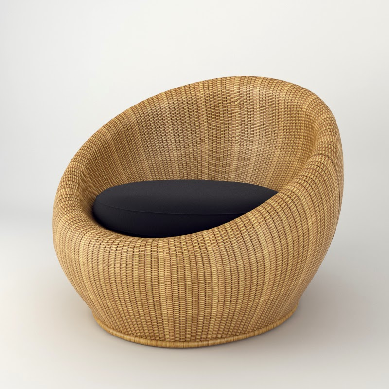 IS DESIGN SOLUTION: Round Rattan Chair