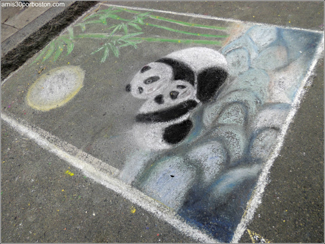 Pandas Chalk on the Walk en la MayFair 2016