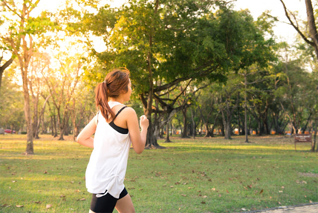 Fitness and nature benefits-woman running-outdoors-via beau-monde-organics