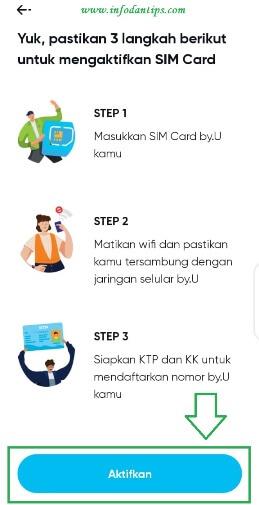 Cara Aktivasi Kartu SIM By.U Mudah dan Cepat