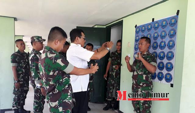 Prajurit Batalyon 527 dites urine