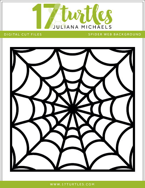 Halloween Spider Web Background Free Digital Cut File by Juliana Michaels 17turtles