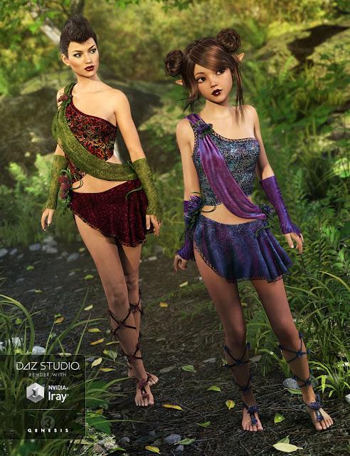 Mischievous Fairy Outfit Textures