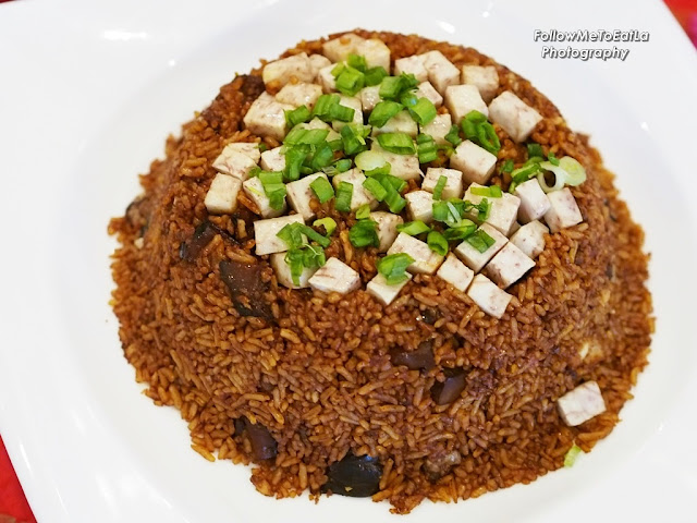Fried Rice With Yam & Chicken Meat