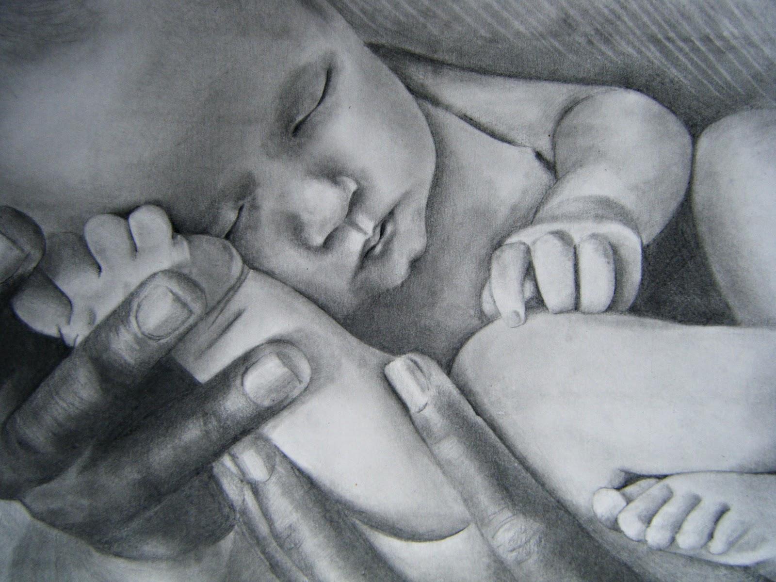Marta de la fuente ilustraci n dibujo de bebe recien nacido for Recien nacido dibujo