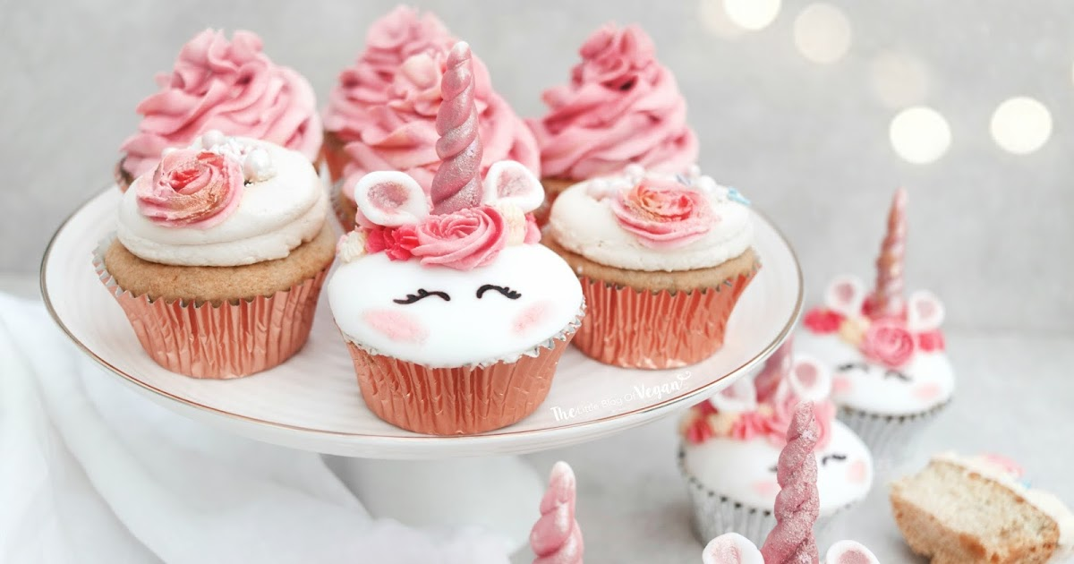 Cute Birthday Cake Wallpaper Unicorn Cupcakes Recipe The Little Blog Of Vegan