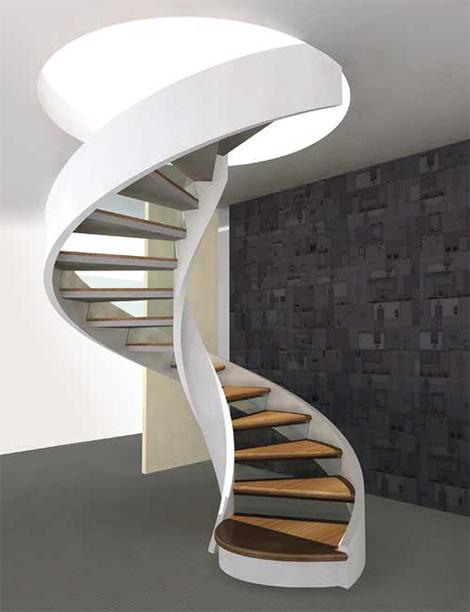 Staircase with shape spiral design design modern home minimalist minimalist home dezine - Stair designs for small spaces minimalist ...
