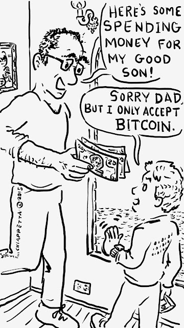 Silly Daddy Cryptocurrency Comic panel 4 by Joe Chiappetta