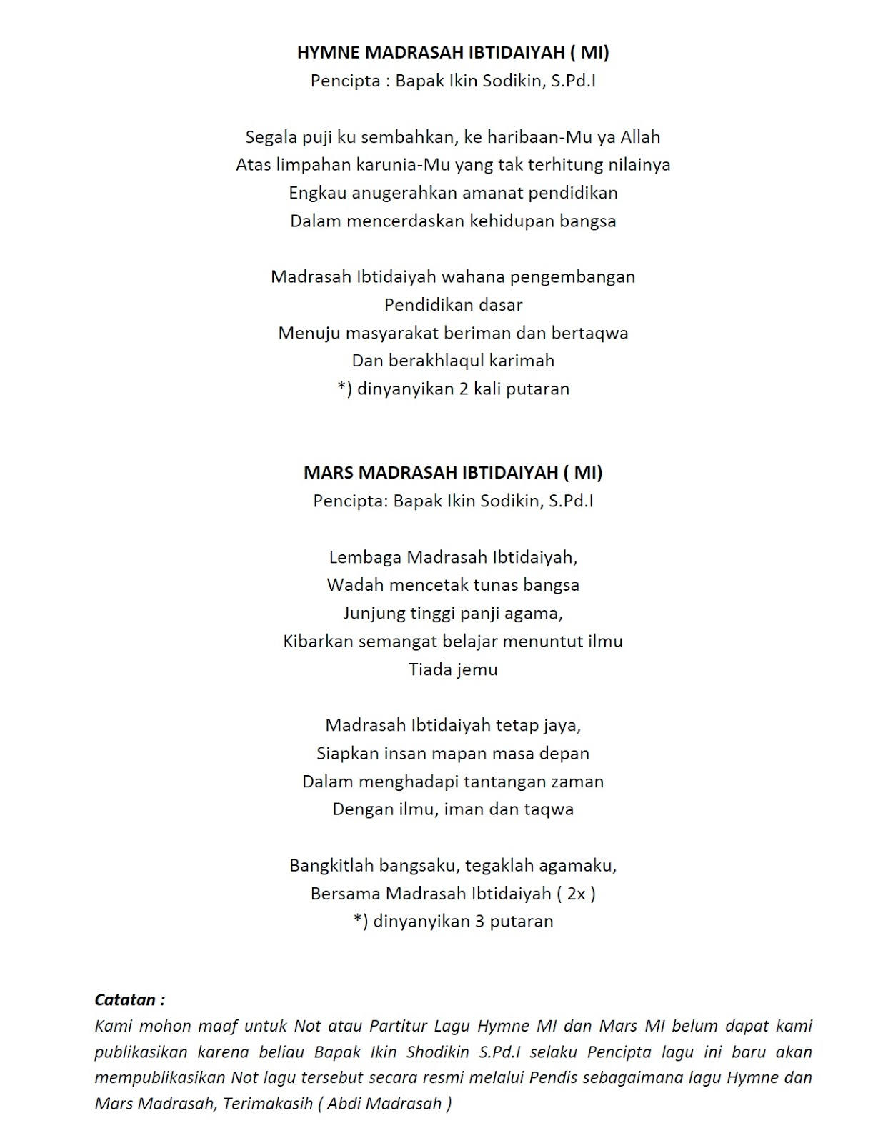 Lirik Hymne Madrasah : lirik, hymne, madrasah, HYMNE, Nurul, Islam, Labruk, Kidul, Kec.Sumbersuko, Kab.Lumajang