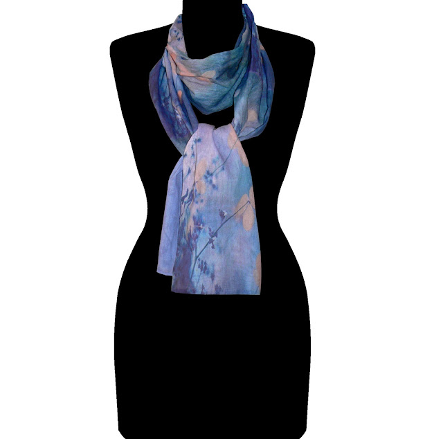 Beau Monde Organics' 'Halcyon-Bliss' Signature organic cotton art scarf in 'Champs-Elysées' styling