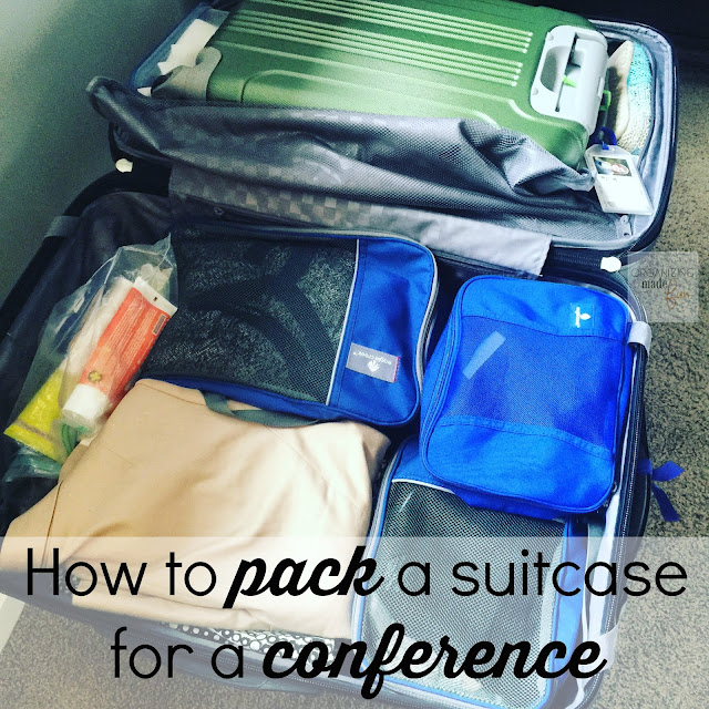 How to pack a suitcase for a conference :: OrganizingMadeFun.com