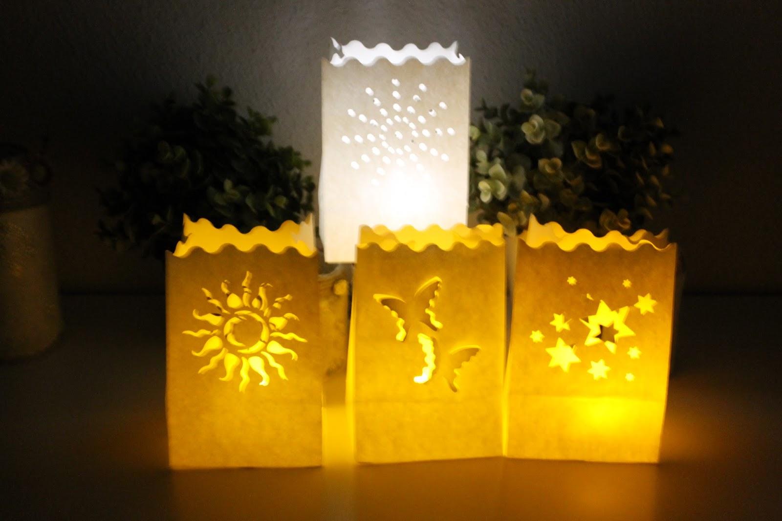Dulce fragancia linternas o farolillos - Bolsas de papel para velas ...