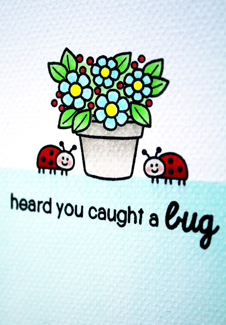 "Sunny Studio Stamps: Backyard Bugs ""Heard You Caught A Bug"" Get Well Card by Vanessa Menhorn."