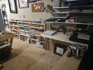 artist workspace, art work area, art studio
