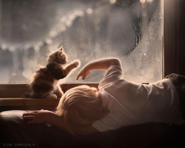 صور ساحرة لأطفال برفقة حيوانات المزرعة