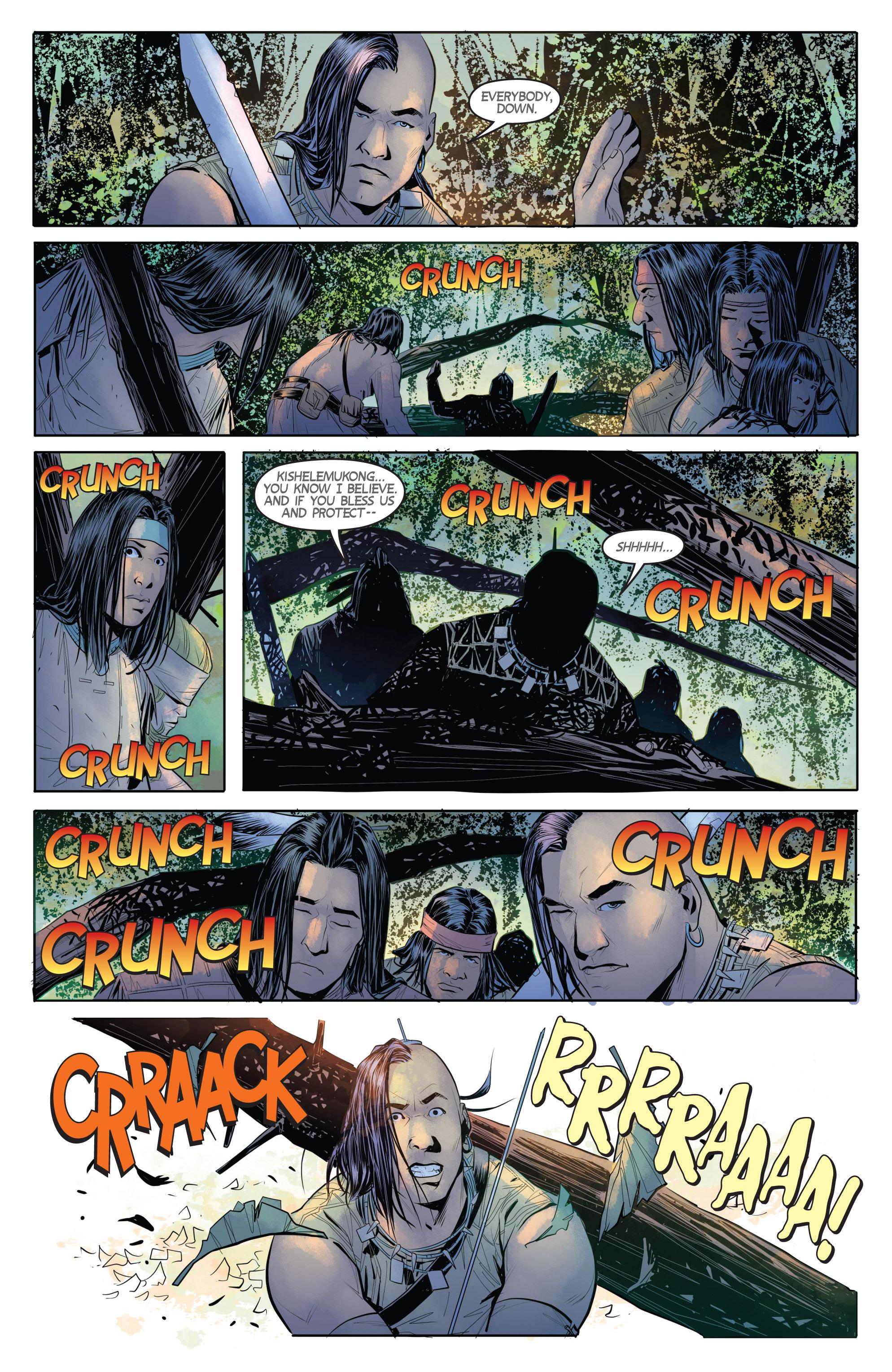 Read online Turok: Dinosaur Hunter (2014) comic -  Issue # _TPB 1 - 56