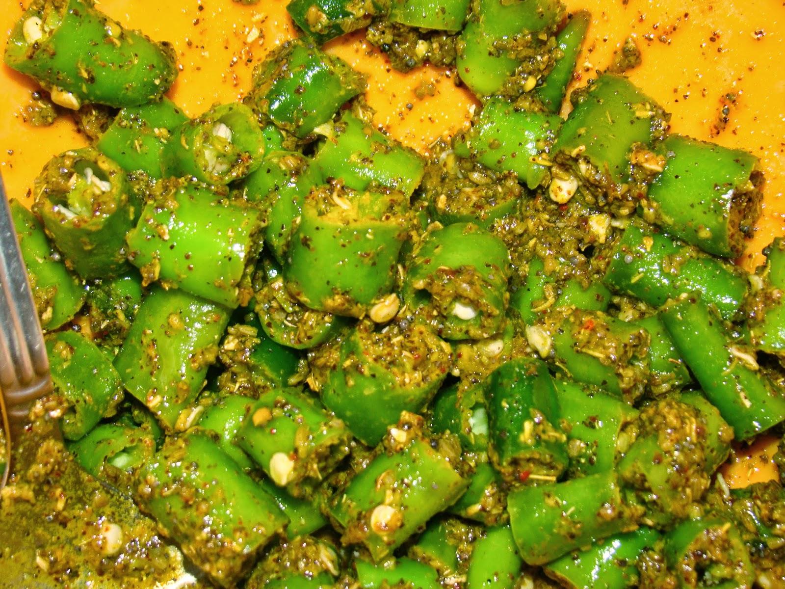 हरी मिर्च का आचार|Instant green chilli pickle