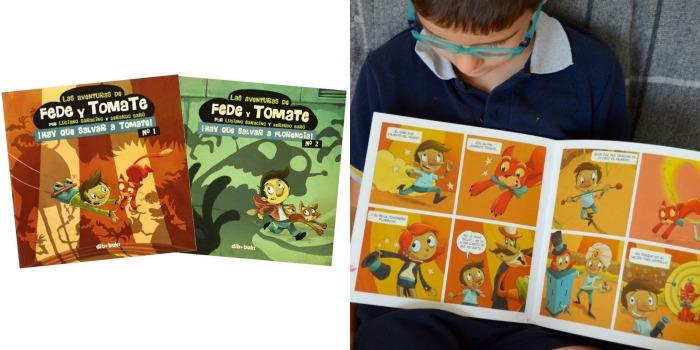 colección cómic niños Fede y tomate