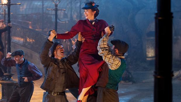 Lin-Manuel Miranda et Emily Blunt dans Le Retour de Mary Poppins