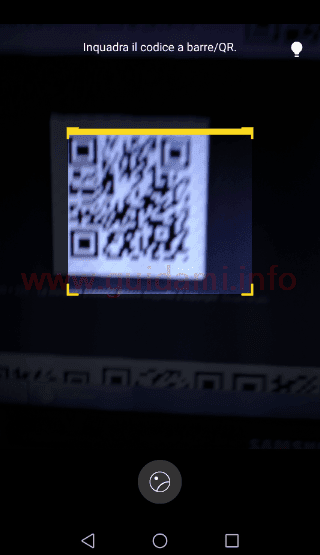 Scanner codici QR integrato in Huawei