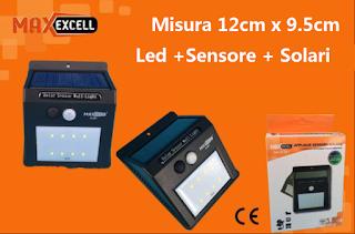 lampada led solare con sensore maxexcell