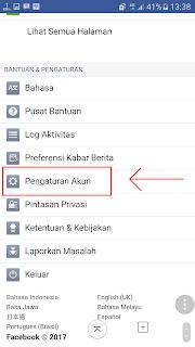 klik pengaturan akun