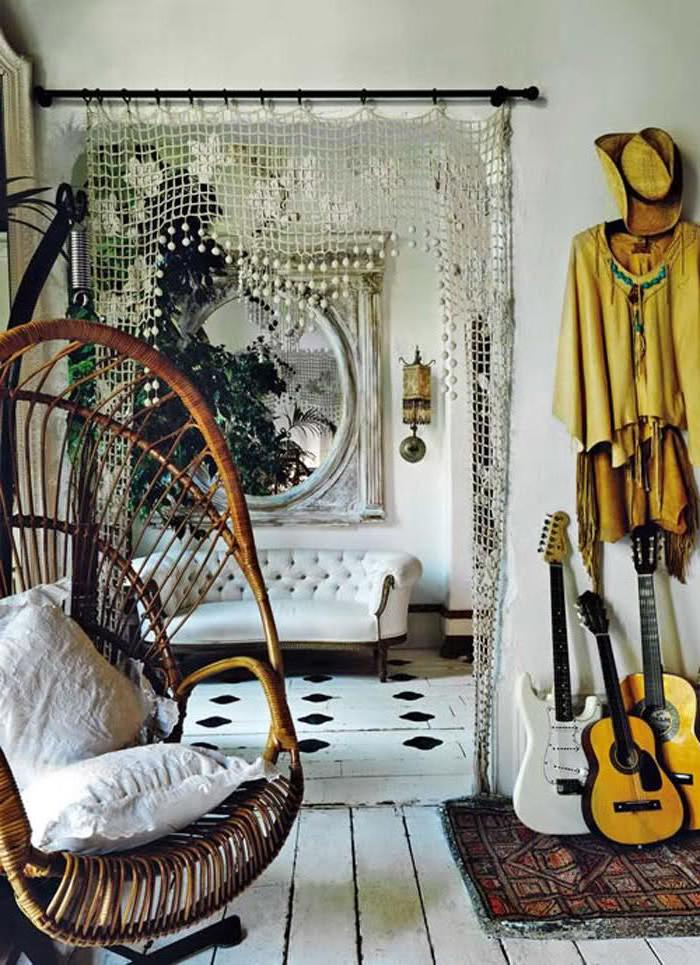Rattan Chair in Boho Space