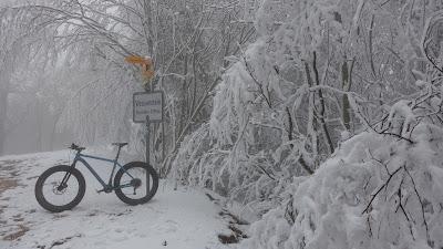Nebel und Schnee auf der Weissenstein-Passhöhe