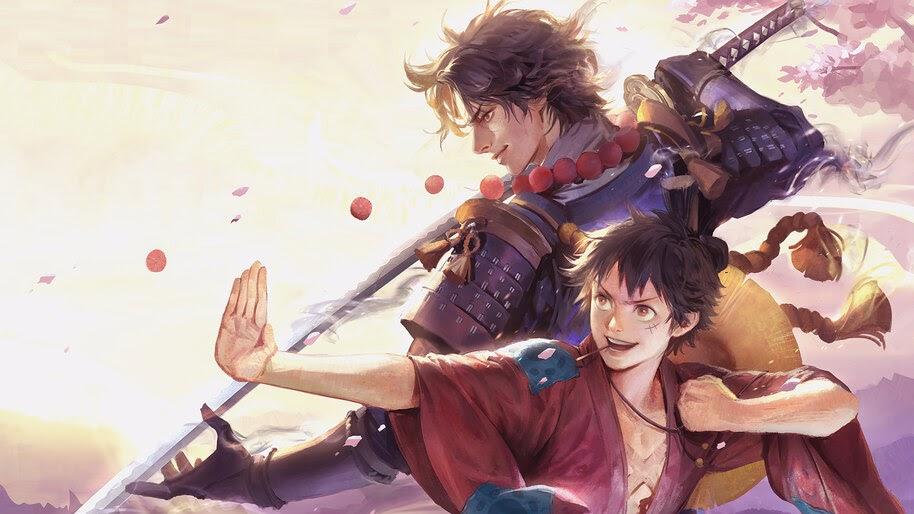 Luffy and Ace, Samurai, Katana, One Piece, 4K, #6.1430