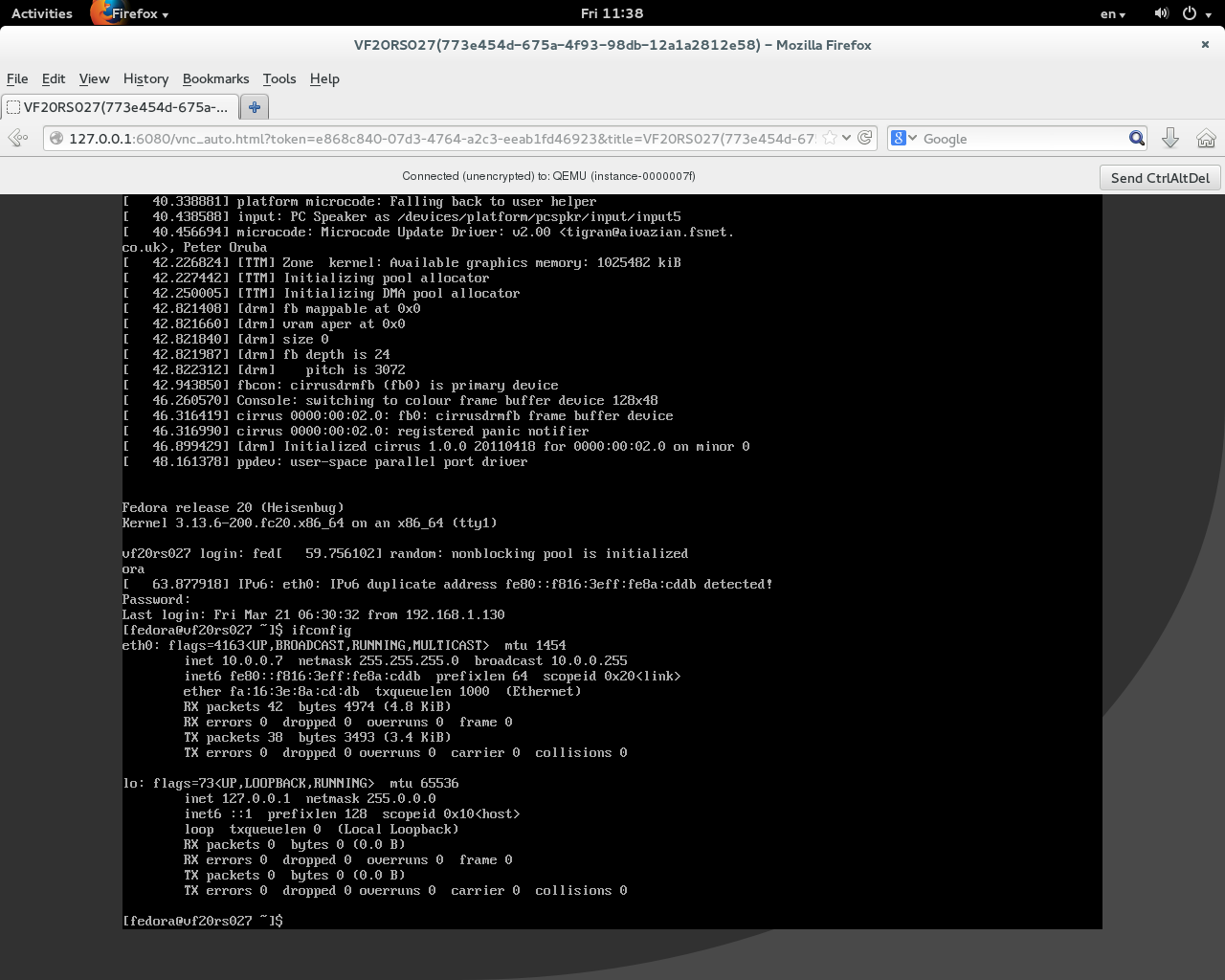 Xen Virtualization on Linux and Solaris: VNC Console in Dashboard on