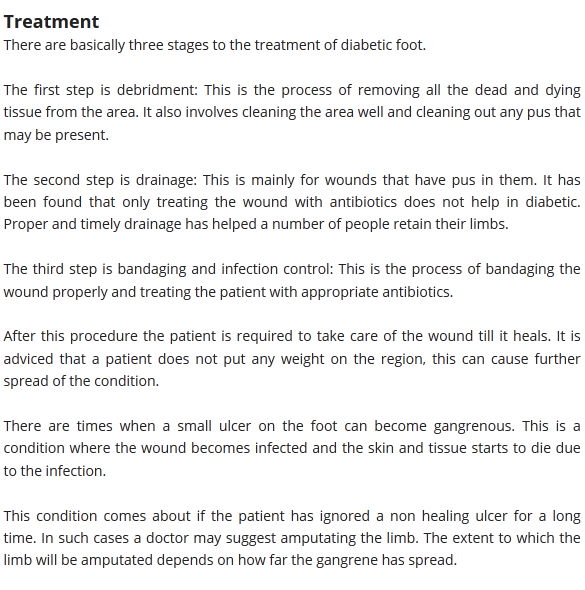 Treatment For Diabetic Foot Cellulitis Preventing - induced info