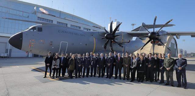 Defensa recibe su segundo avión de transporte A400M