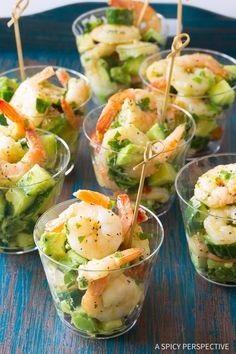 Garlic Lime Roasted Shrimp Salad